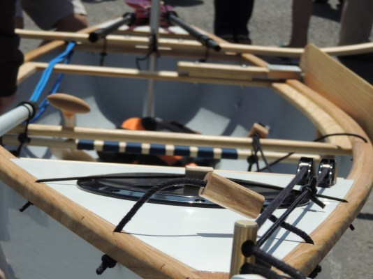 14.5' Composite sailing canoe. Photo by Janine Cashin 100614 (5)