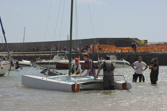 16' F16 Composite Catamaran. Photo by Liz Griffiths 100614 (135)