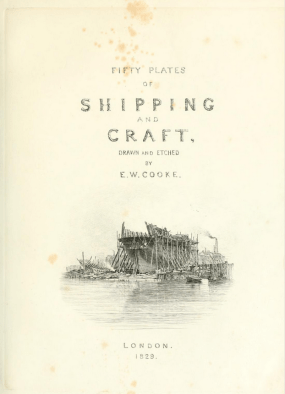 EW Cooke Fifty Plates of Shipping and Craft