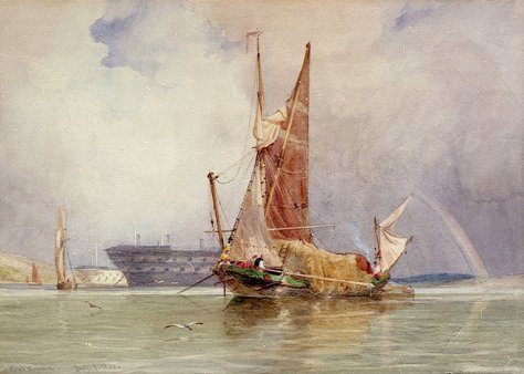 EW Cooke prison hull and sailing barge