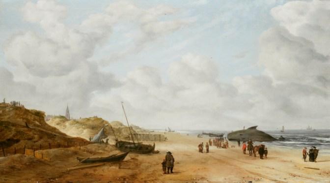 Restored Hendrick van Anthonissen painting reveals whale on Scheveningen beach
