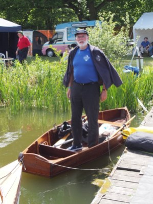 Chris Partridge in his aunt's Thames lock-keeper's punt