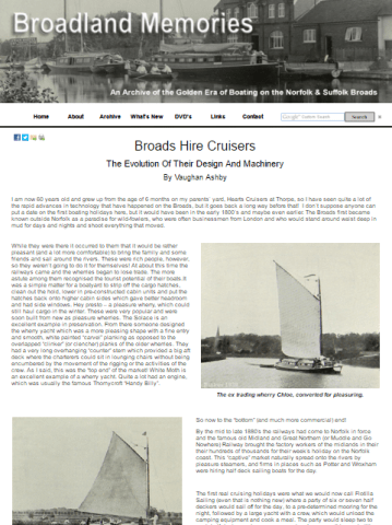 A history of Broads hire cruisers