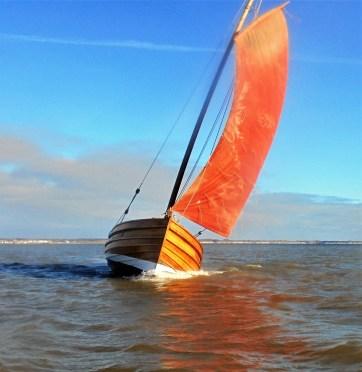Photos of cobles under sail from the Bridlington folks