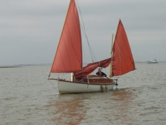 "A very happy chappie sailing ""Eel"""