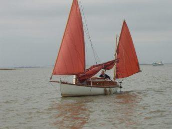"A very happy chappie sailing ""Eel"""