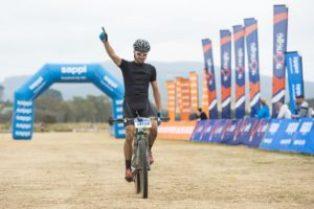 Brendon Davids won the 60km Karkloof Classic Marathon in KwaZulu-Natal today. Photo: Anthony Grote