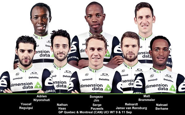 The Team Dimension Data riders will compete in the Grand Prix Cyclistes Quebec and Montreal from September 9 to 11. Photo: Supplied