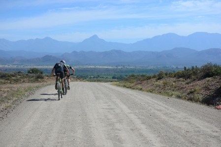 Erik Kleinhans and Matt Beers powered to their fourth stage win on stage five of the Cape Pioneer Trek in Oudtshoorn yesterday. Photo: www.zcmc.co.za