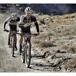 Travis Walker and Pieter Seyffert at the Trancape mountain bike race