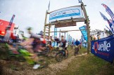 The riders are off on day two of sani2c Trail. Photo: Kevin Sawyer