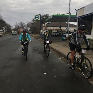 Cyclists in action during the Free State Dash