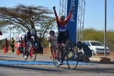 Carla Oberholzer won the 103km women's race at the 2017 Cycle4Cansa at Sun City.