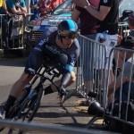 Team Sky's Elia Viviani won the Cyclassics Hamburg in Germany today.