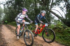 Two of the Storms River Traverse participants making their way to the finish on stage one.