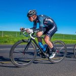 Brad Gouveris took the win in the Makro Bestmed Cycle Tour in Port Elizabeth today.