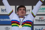 Frenchman Loic Bruni won the elite men's downhill race at the UCI Mountain Bike World Championships in Cairns, Australia, today.