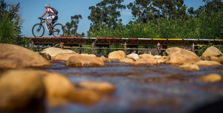 A mountain biker in action during last year's Wines2Whales Ride stage one.