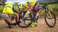 Some riders had some mechanical issues on day two of Wines2Whales Race.