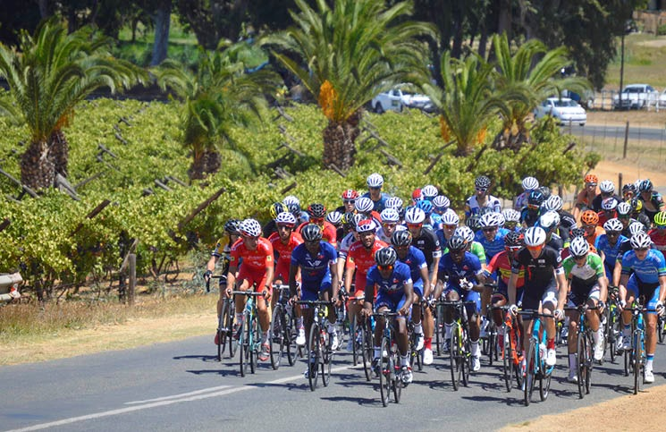 Road race action