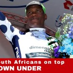 Nicholas Dlamini at Tour Down Under