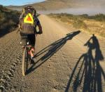 Batch two rider pictured soon after they started their 554km race in the Freedom Challenge Race to Willowmore today. Photo: @freedom_trail