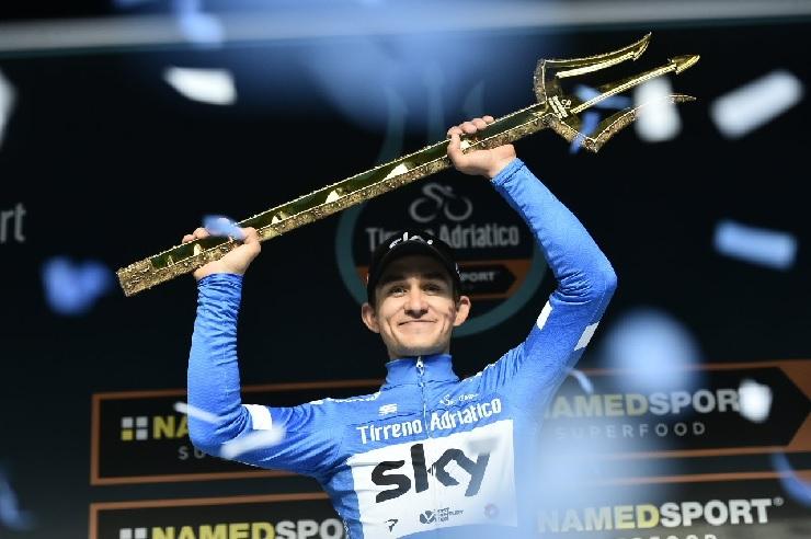 Team Sky's Michal Kwiatkowski pictured after winning the Tirreno-Adriatico in Italy today. Photo: @TirrenAdriatico
