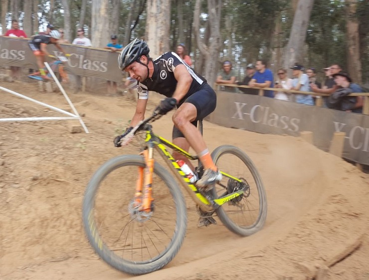 Stuart Marais in action during the Stellenbosch UCI Mountain Bike World Cup today. Photo: Full Stop Communications