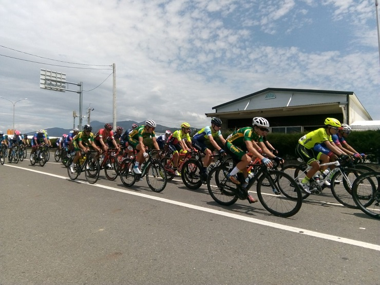 Riders in action during the fifth and final stage of the Tour de Taiwan today. Photo: Supplied