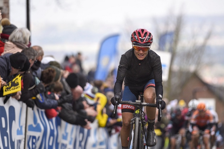 Ashleigh Moolman-Pasio pictured at the Tour of Flanders in Belgium on Sunday. Photo: Velofocus