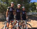 Team BCX first three riders to finish stage four of the Tour de Limpopo today. From left Marc Pritzen (first), Steven van Heerden (second) and David Maree (third). Photo: BCX/Twitter