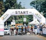 A team start their time trial on stage three of Tour de Limpopo.
