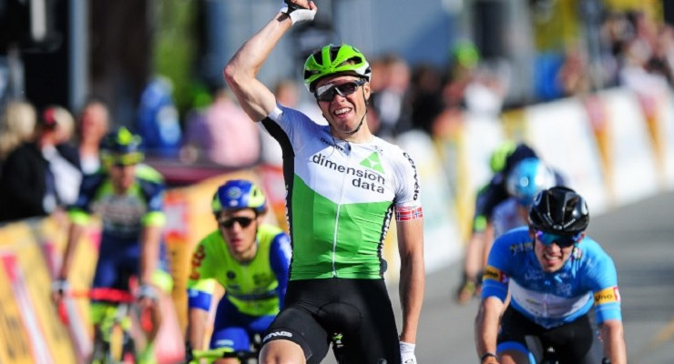 Dimension Data's Edvald Boasson Hagen won the 169km second stage of the Tour of Norway. Photo: Stiehl Photography