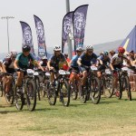 Brendan van Eeden and Chante Payne won the junior races of the Schools MTB League in the first North West event at Wagpos High School, Brits, on Saturday. Photo: Facebook/@SpurMTBLeague
