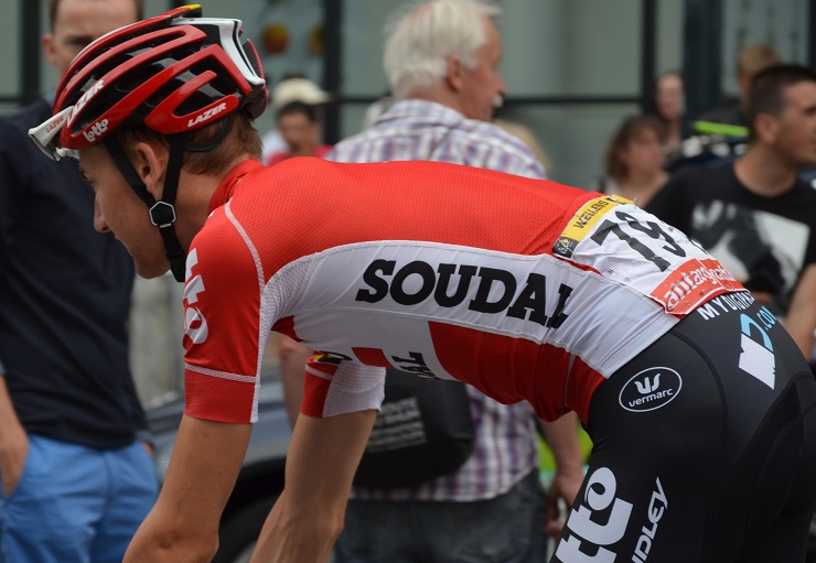 Tim Wellens had to dig deep to secure victory in the 202km fourth stage of the Giro d'Italia today. Photo: Photo credits