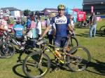 Gert Heyns achieved his goal of winning the 80km Knysna Cycle Tour MTB race today. Photo: Supplied