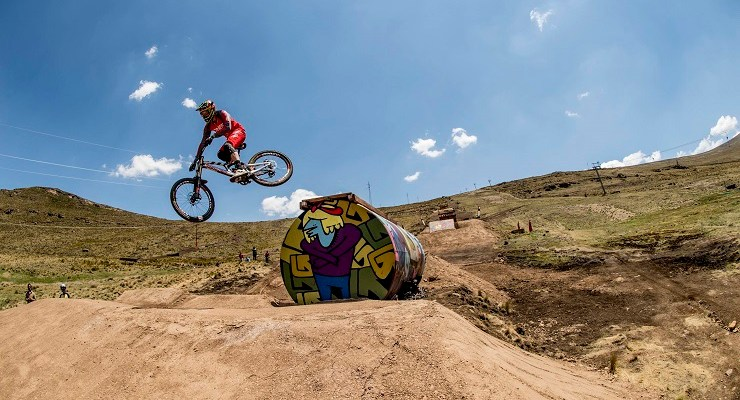 South African downhill racer Greg Minnaar