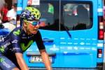 Movistar Team's Nairo Quintana soloed to victory on the 170km seventh stage of the Tour de Suisse. Photo: Photo credits