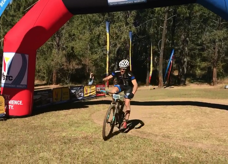 Grant Lavers (pictured) and Juanita Kammeyer won stage one of the RidetheBerg in Bergville today. Photo: facebook.com/ridetheberg/