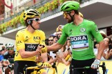 Team Sky's Geraint Thomas and Bora-Hansgrohe's Peter Sagan