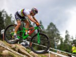 Switzerland's Nino Schurter (pictured) and Poland's Maja Wloszczowska won the respective elite men's and women's elite cross-country race at the UCI Mountain Bike World Cup in Val di Sole yesterday. Photo: Claudio Foco Photography
