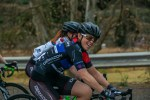 Lynette Burger won the women's race at the Buffelspoort Road Challenge