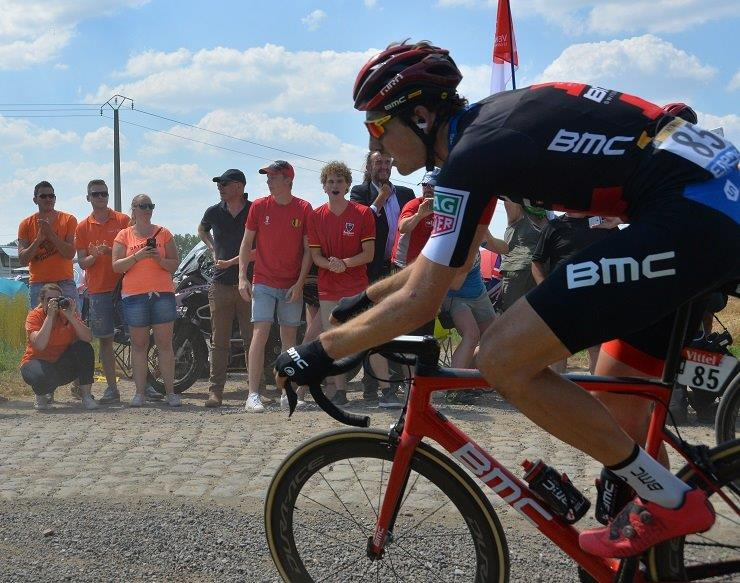 BMC Racing's Stefan Küng won the 12.7km individual time-trial on the second stage of the BinckBank Tour in Venray today. Photo: Photo credits