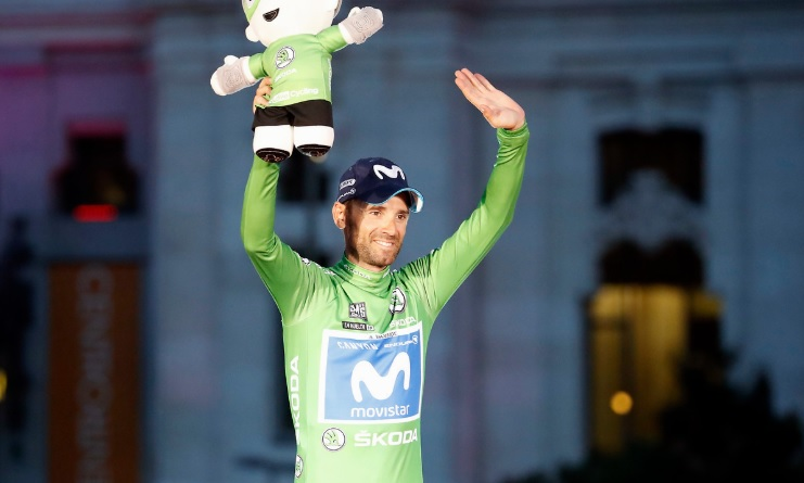Spain's Alejandro Valverde, pictured here during this year's Vuelta a Espana, crossed the line first to be crowned the road champion at the UCI Road World Championships
