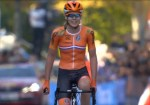 Netherland's Anna van der Breggen was crowned the elite women's road champion after soloing to victory at the UCI Road World Championships today. Photo: tiz-cycling.racing