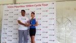 South African Kirsten Schut won the women's event at the Mauritius 100km Cycle Tour