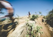 A motion shot of riders going through a drier section during stage three of the Berg and Bush 'Great Trek'. Photo: Em Gatland