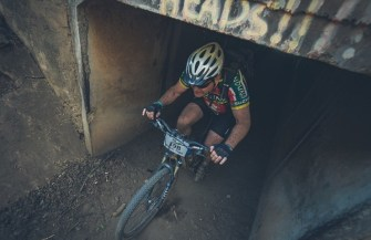 A rider exiting a tunnel during stage three of the Berg and Bush 'Great Trek'. Photo: Em Gatland