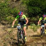 """Philip Buys (left) and Matthys Beukes are back at the top of their game after they defended their Berg and Bush """"Descent"""" title when they won the third and final stage today. Photo: Tobias Ginsberg"""