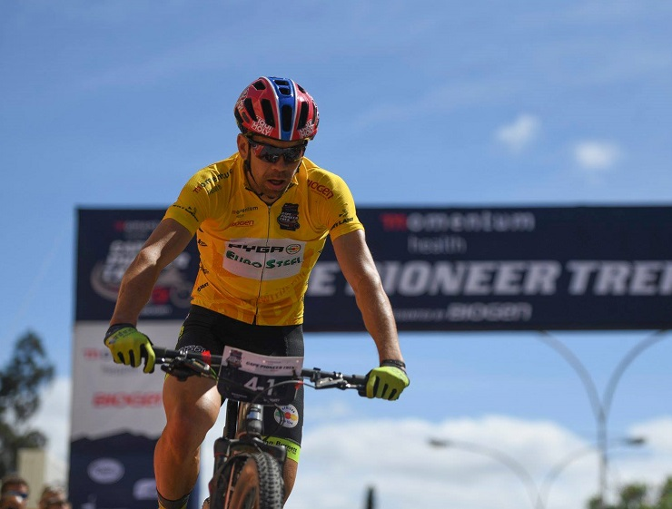 Philip Buys (pictured) relished his overall victory in the Cape Pioneer Trek alongside PYGA Euro Steel teammate Matthys Beukes after the seventh and final day of the race concluded in Oudtshoorn yesterday. Photo: Zoon Cronje